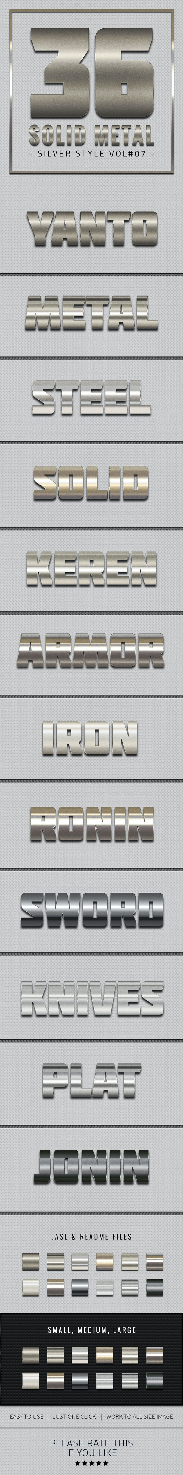 36 Solid Metal Text Effect V07 - Text Effects Styles