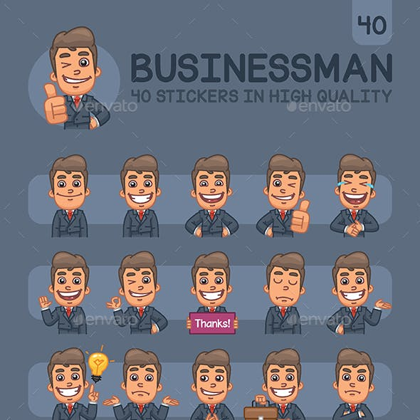 Businessman Stickers Pack