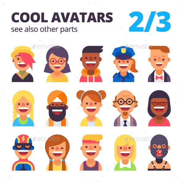 Set of Avatars Part 2/3 - People Characters