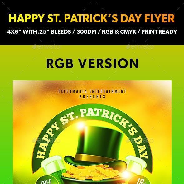 Happy St. Patrick's Day Flyer