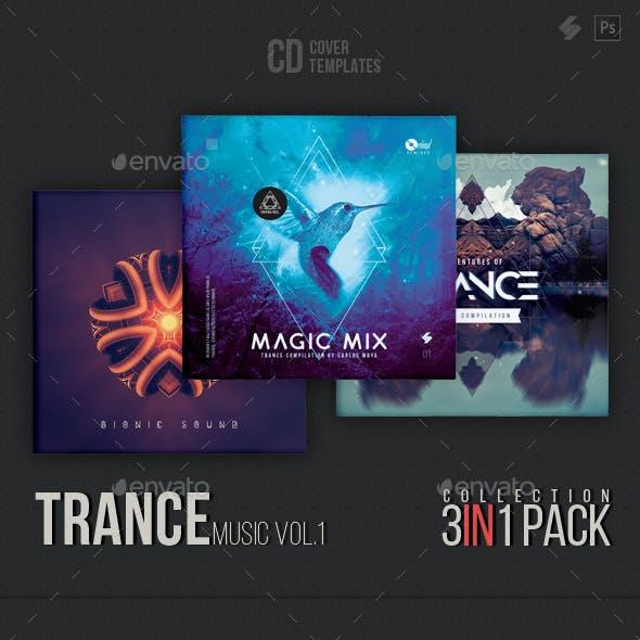 Trance Music CD Cover Artwork Templates Bundle