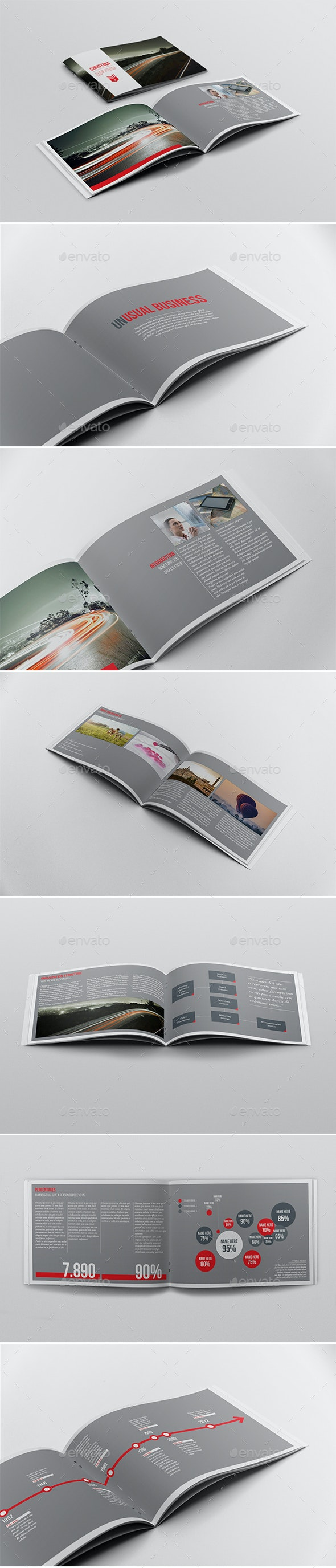 Business Report Brochure Template - Brochures Print Templates
