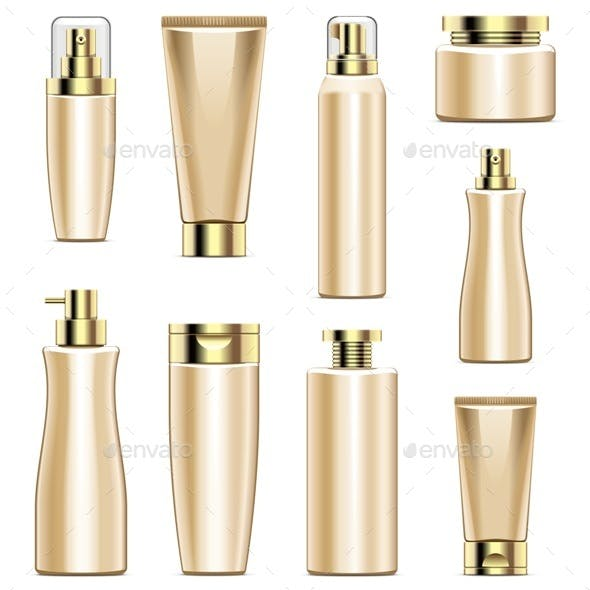 Cosmetic Packaging Icons Set 5