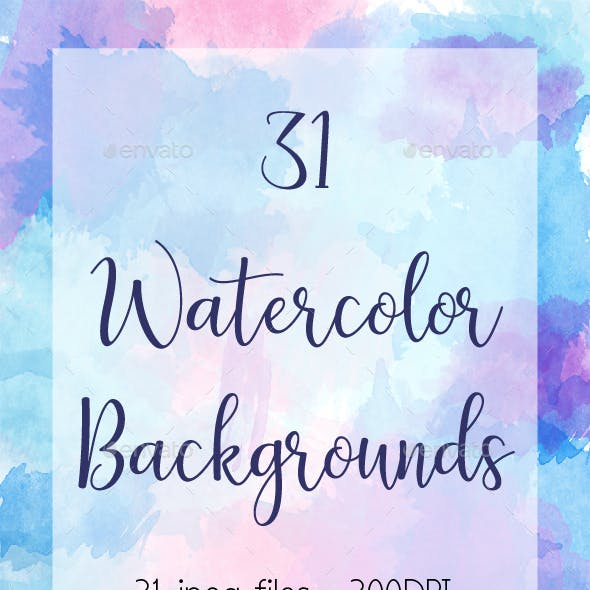 31 Watercolor Backgrounds