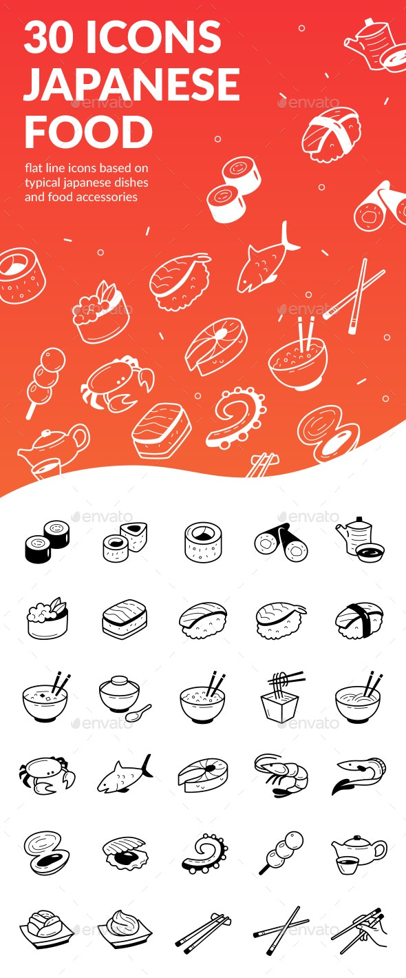 Japanese Food Icons - Food Objects