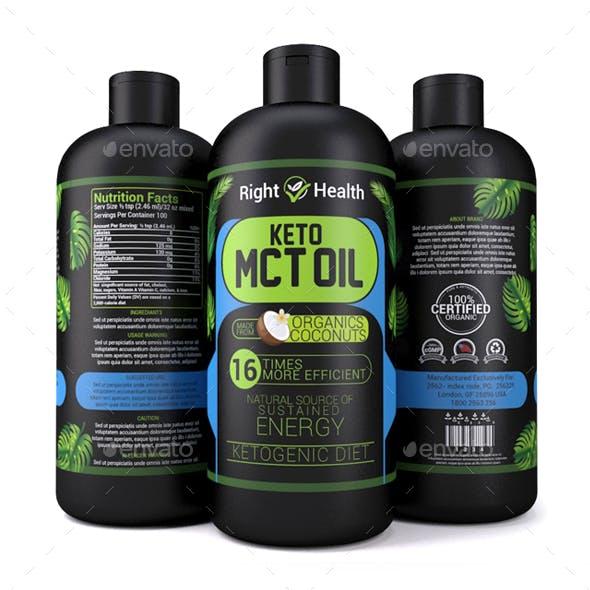 Oil Bottle Mock-up