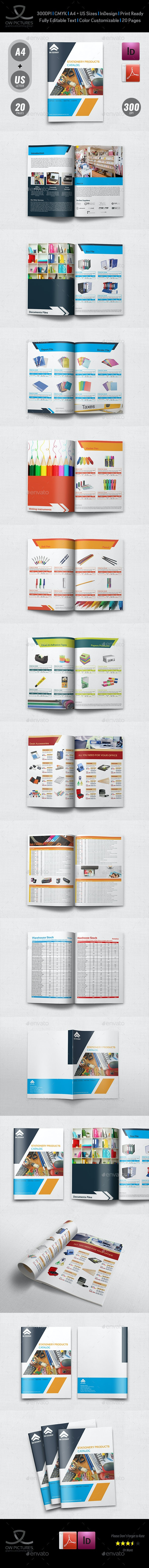 Stationery Products Catalog Brochure Template Vol.2 - 20 Pages - Catalogs Brochures
