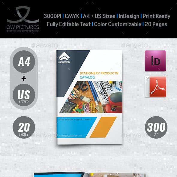 Stationery Products Catalog Brochure Template Vol.2 - 20 Pages
