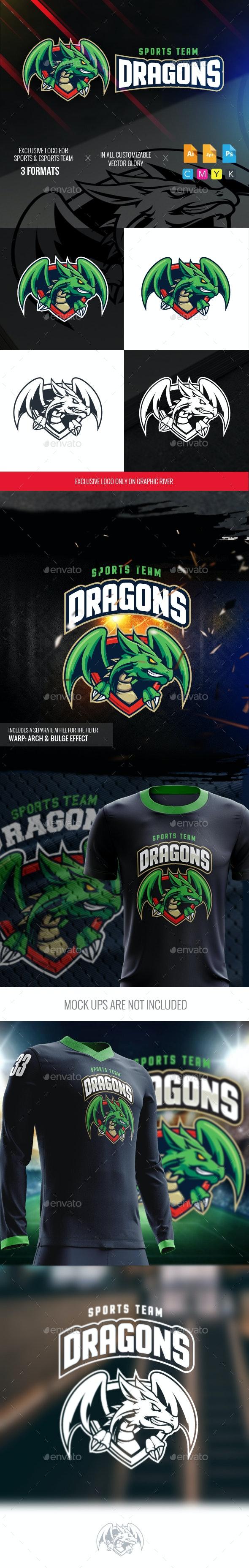 Green Dragon Sports Logo - Logo Templates