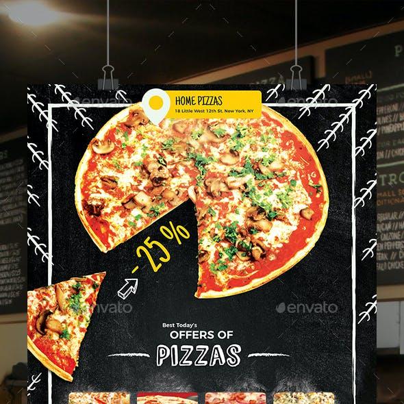 Pizza Home Food Menu Flyer
