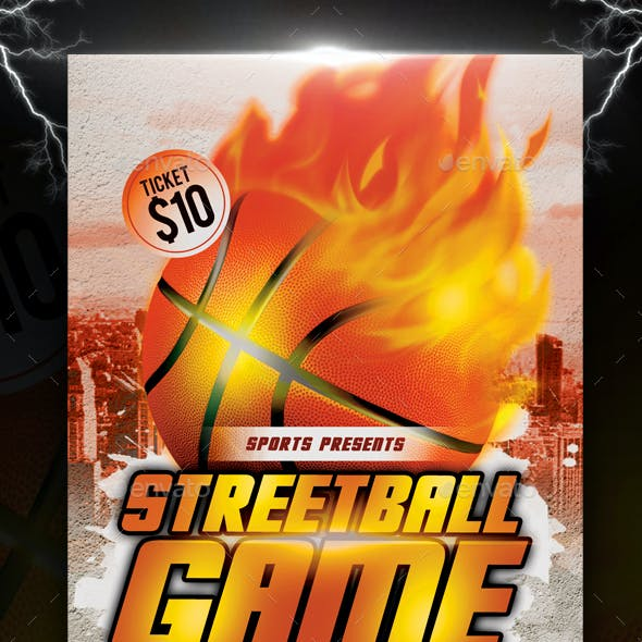 Streetball or Basketball Game Flyer
