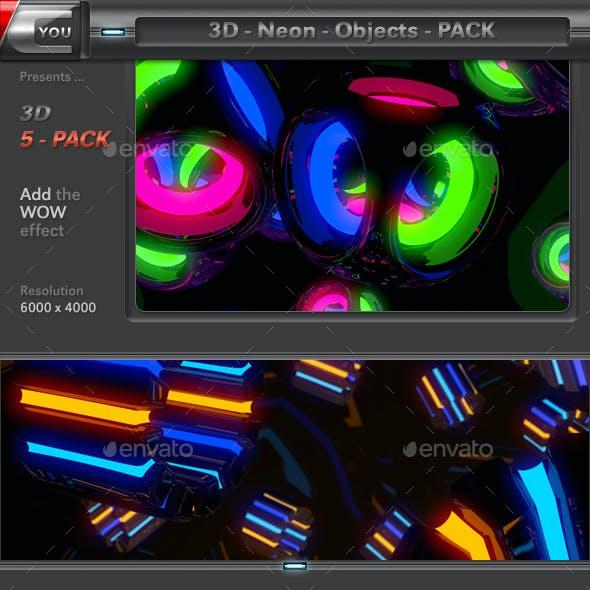 3D Neon Objects