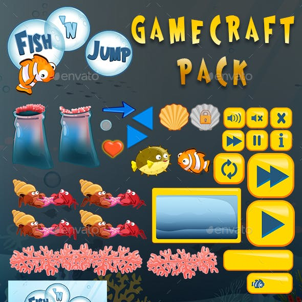Fish 'n Jump Game Assets