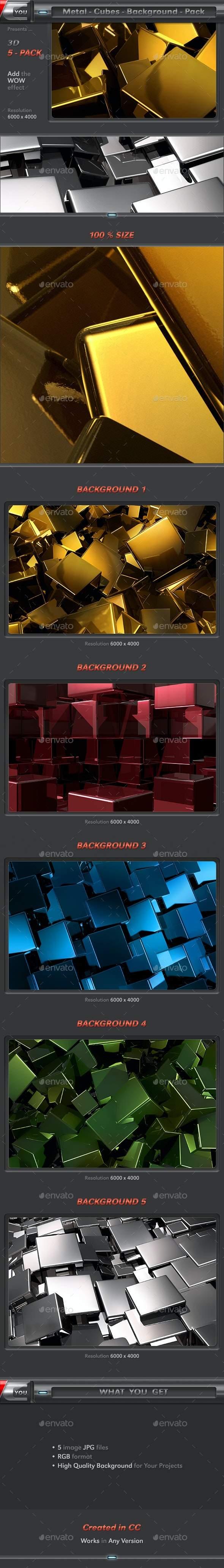 Metal Cubes Pack - 3D Backgrounds