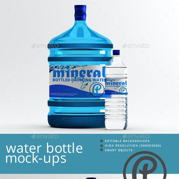 Water Bottle Mock-Ups