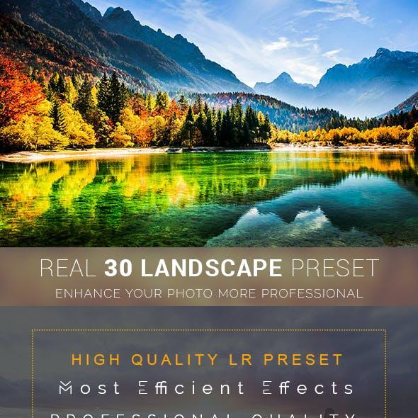 Real 30 Landscape Lr Preset