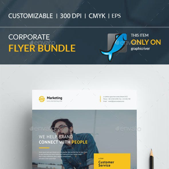 Corporate flyer Bundle 2 in 1