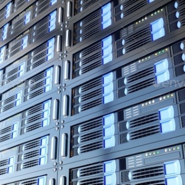 Computer Servers - 3D Rendering