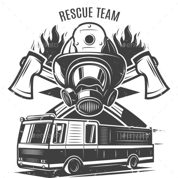 Monochrome Firefighting Template