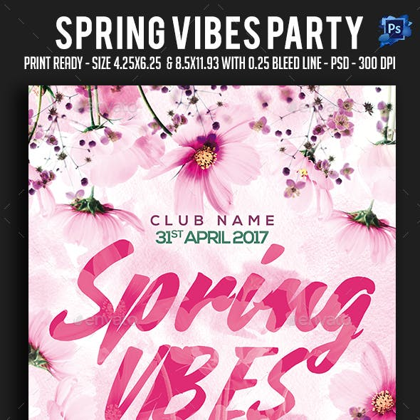 Spring Vibes Party Flyer