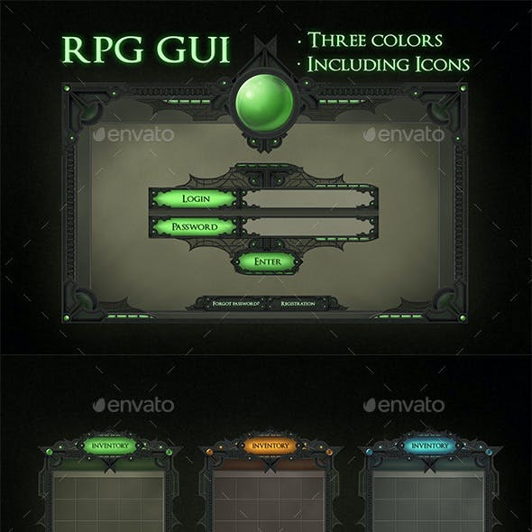 RPG Game Interface