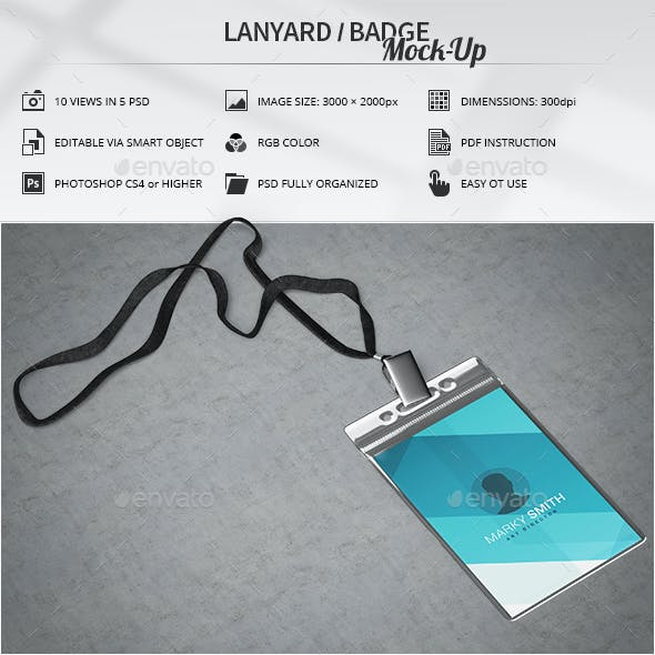Lanyard / Badge Mock-Up