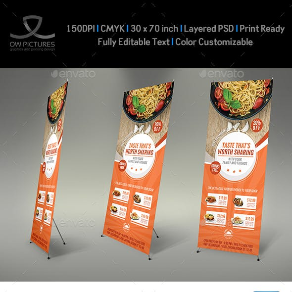 Restaurant  Rollup Signage Banner Template Vol.9