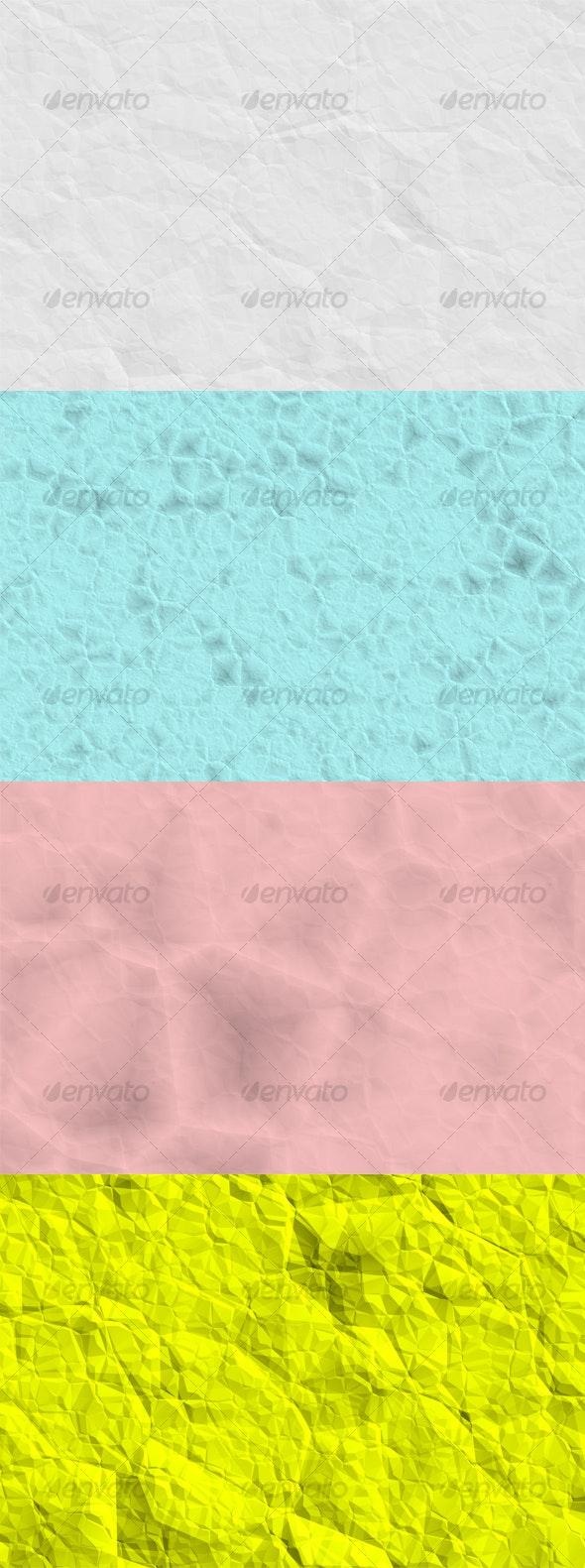 4 x Crumpled Paper Textures - Paper Textures