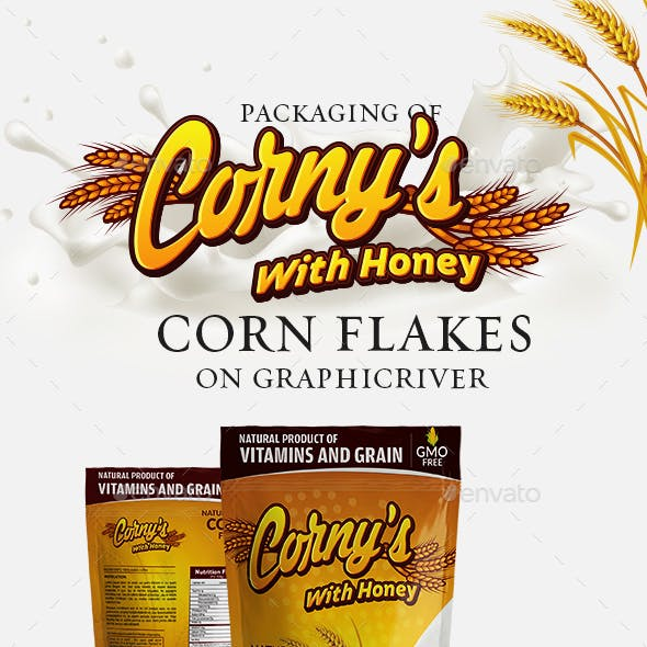 Corny's packaging template( Honey edition)