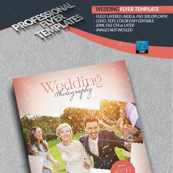 Wedding Photography Flyer Template