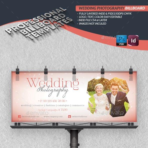 Wedding Photography Billboard Template