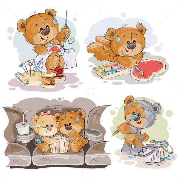 Clip Art Illustrations of Teddy Bears