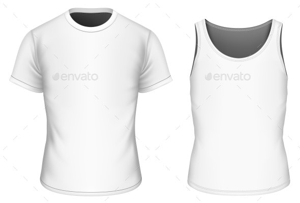 T-Shirt and Singlet Vector Illustration - Man-made Objects Objects