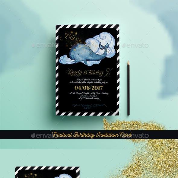 Nautical Birthday Invitation Card