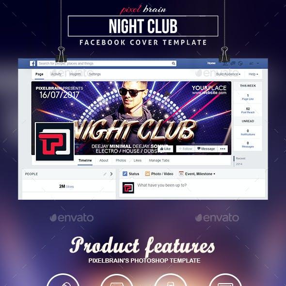 Night Club Facebook Cover Template