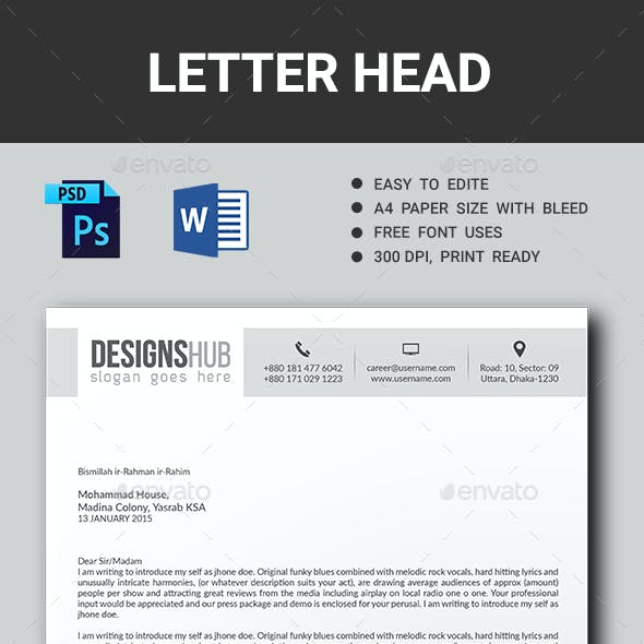 Corporate Letter Head
