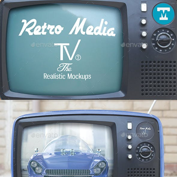 Retro Media Tv - The Realistic Mockups V2