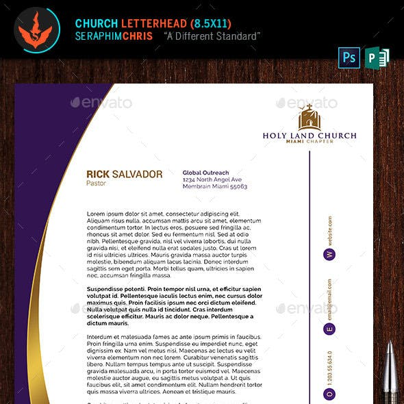 Royal Church Letterhead Template