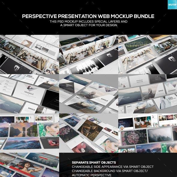 Perspective Presentation Web Mockup Bundle