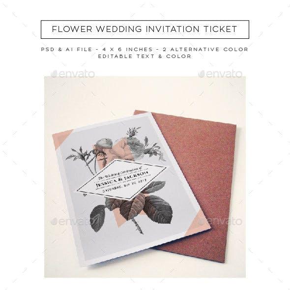 Flower Wedding Invitation Vol. 2