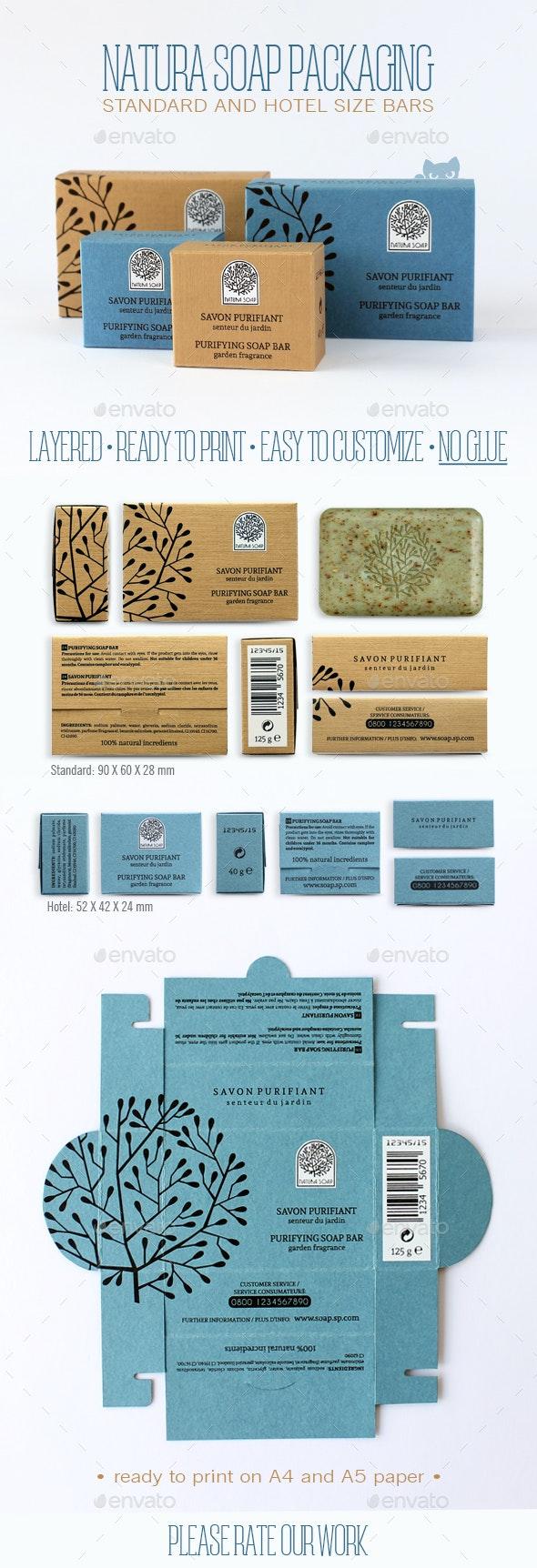 Natura Soap Packaging - Packaging Print Templates