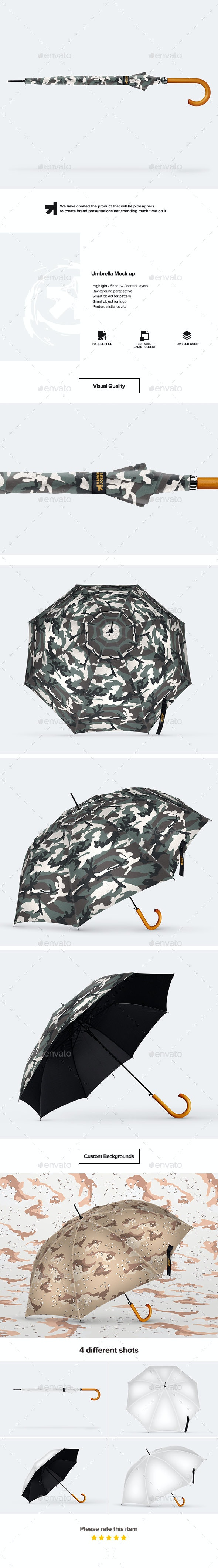 Umbrella Mockup - Miscellaneous Product Mock-Ups