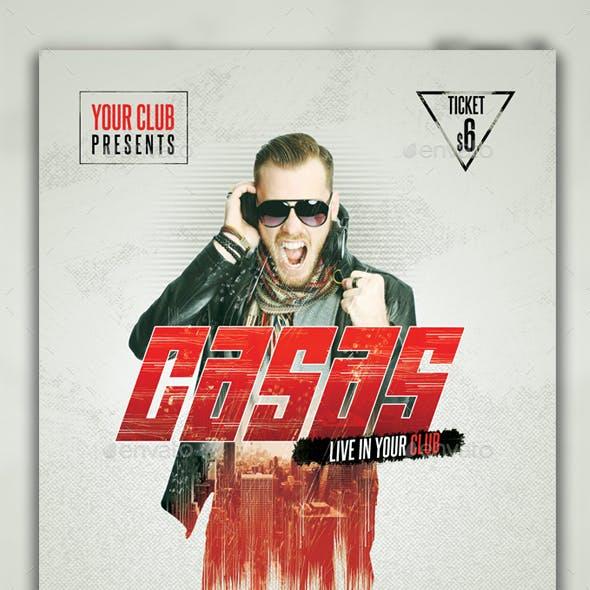 Casas DJ Flyer PSD Template