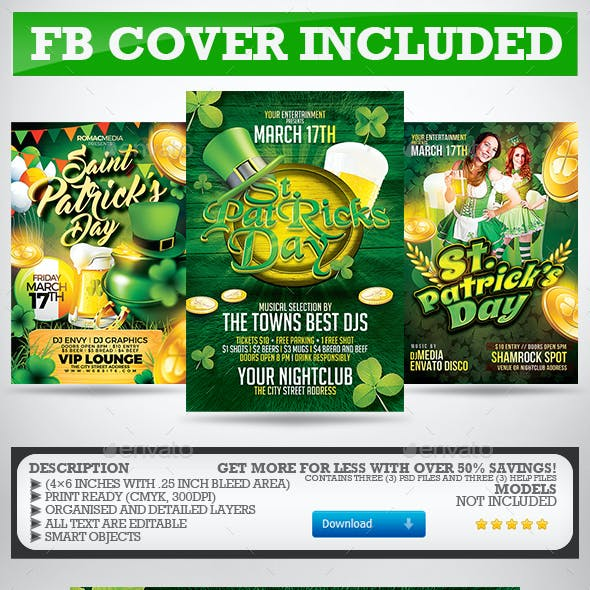 St. Patrick's Day Flyer Bundle
