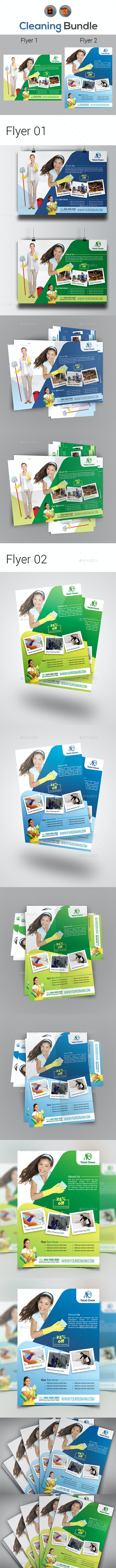 Cleaning Flyer   House   Office   Hotel - Corporate Flyers