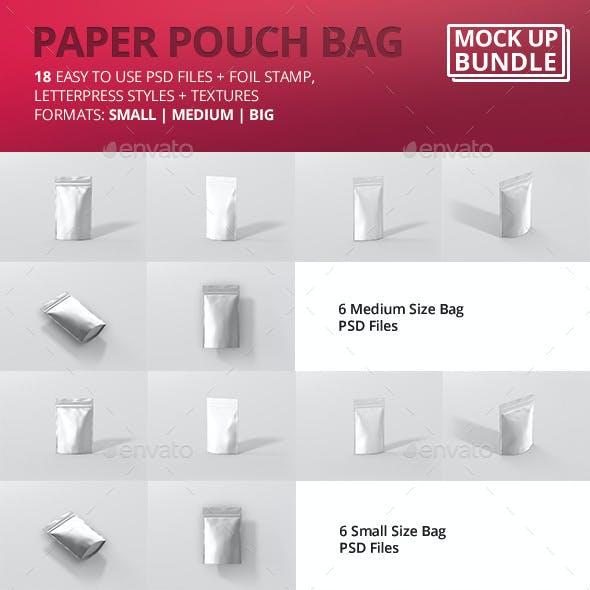 Paper Pouch Bag Mockup Bundle