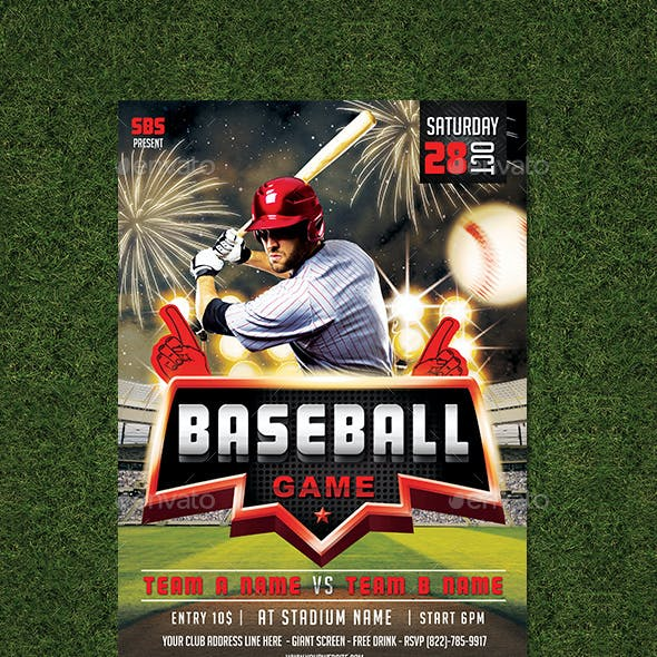 Baseball Game Vol 2 Flyer Template