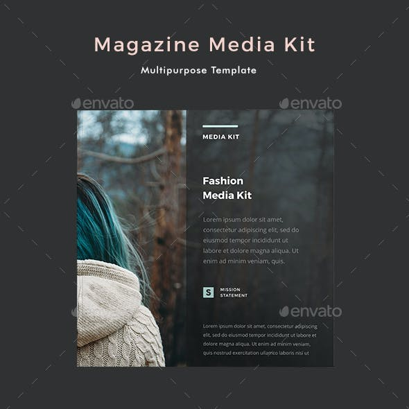 Magazine Media Kit Template