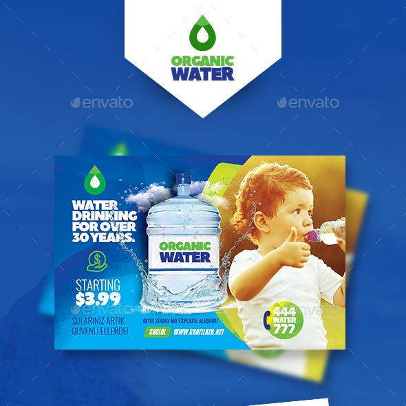 Drinking Water Service Postcard Templates
