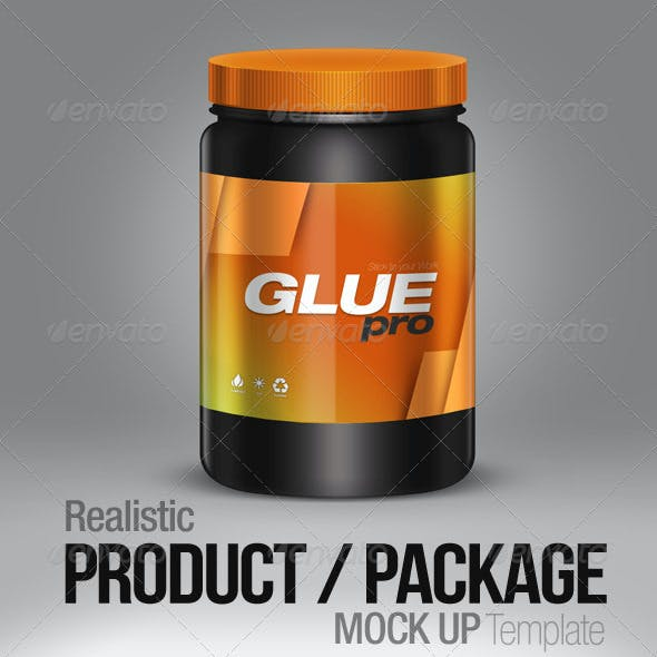Realistic Product / Package Mock up
